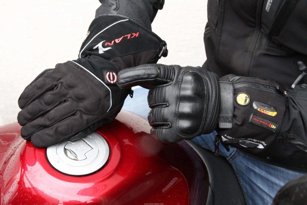 gant de moto en tissu