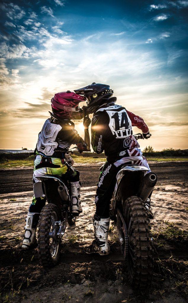 gants amour et motocross